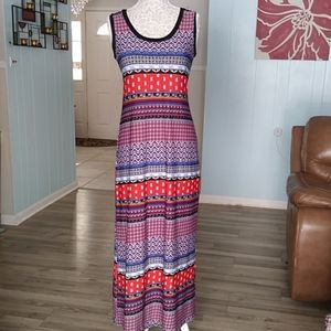 Sunny leigh multicolored soft &stretchy maxi dress